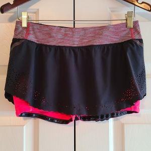 Lululemon Run Light As Air Eyelet Athletic Skirt